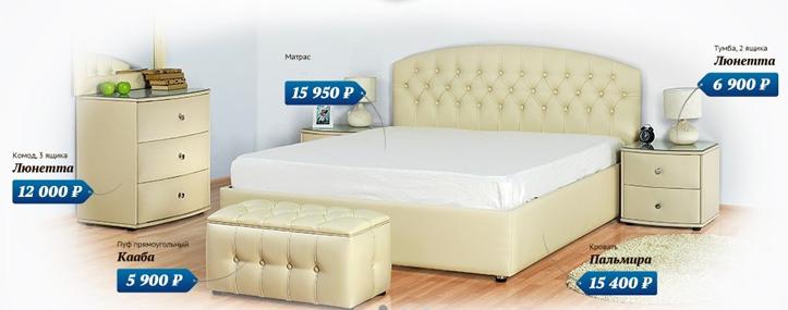 Конструкция кровати с матрасом